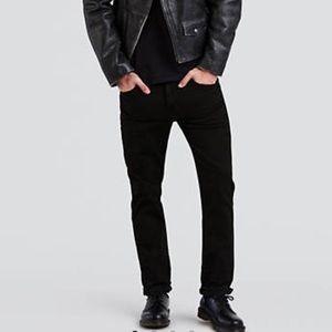 Levi's 511 Skinny 34W Black Slim Fit Stretch Jeans